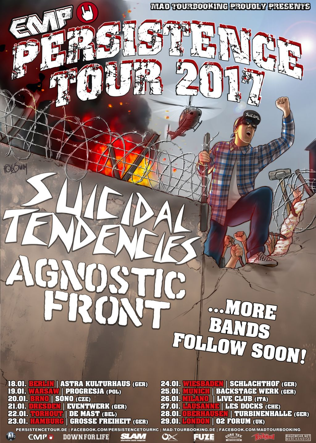 ST TO HEADLINE PERSISTENCE TOUR FOR THE THIRD TIME!