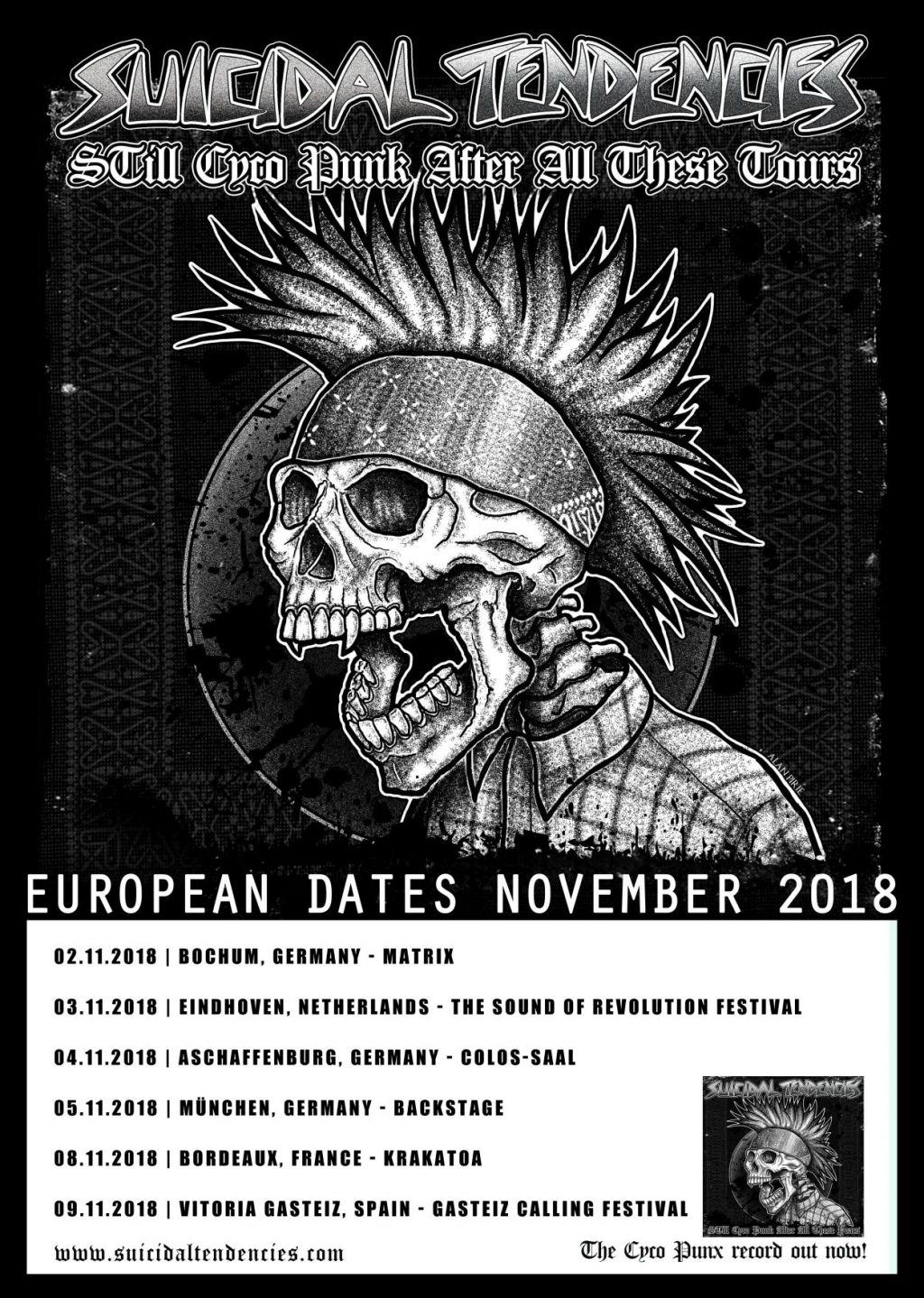 STILL CYCO PUNK EU TOUR AHEAD!